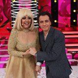 Blas Cantó y Yolanda Ramos, en la gala final de 'Tu cara me suena 5'