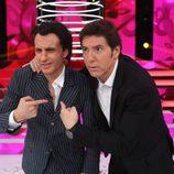 Blas Cantó y Manel Fuentes posan juntos en la gala final de 'Tu cara me suena 5'