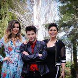 Blás Cantó, ganador de la quinta edición de 'Tu cara me suena', junto a Lorena Gómez y Rosa López