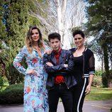 El ganador, Blas Cantó, posa junto a Lorena Gómez y Rosa López en la rueda de prensa de la final de 'Tu cara me suena'