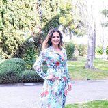 Lorena Gómez, finalista de 'Tu cara me suena', en la rueda de prensa de la final