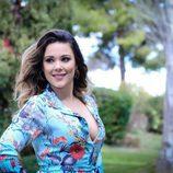 La cantante, Lorena Gómez, posa en la rueda de prensa de la final de 'Tu cara me suena'