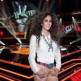 Rosario Flores en  el plató de  'La Voz Kids 3'