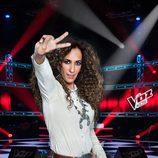 Rosario Flores hace el símbolo de 'La Voz Kids 3'