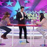 Lolita en plena prueba de 'Jugando con las estrellas' ante Jaime Cantizano
