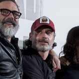 Los protagonistas de 'The Walking Dead' posan en el photocall preparado por FOX en los cines Capitol