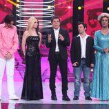 Los finalistas de la primera gala de 'Tu cara no me suena todavía' junto a Manel Fuentes