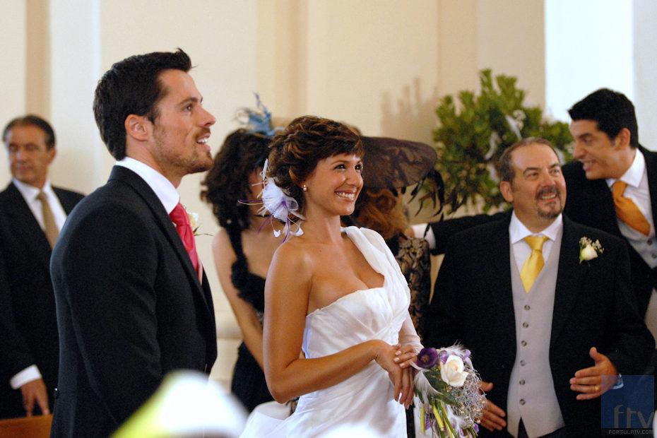 Sergio y Natalia en el día su boda en 'Lalola'