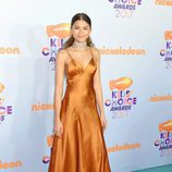 Zendaya en la alformbra roja de los Nickelodeon's 2017 Kids' Choice Awards
