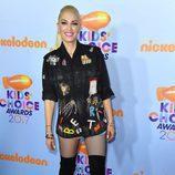 Gwen Stefani en la alfombra roja de los Nickelodeon's 2017 Kids' Choice Awards