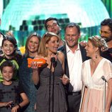 Elenco de actores de 'Madres Forzosas' en los Nickelodeon's 2017 Kids' Choice Awards