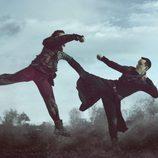 Daniel Wu en acción en la segunda temporada de 'Into the Badlands'