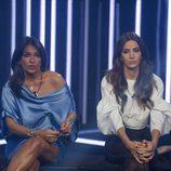 Aída Nízar y Aylén Milla en la sala de expulsiones en la gala 12 de 'GH VIP 5'