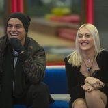 Antonio Rafaski ('Big Brother Brasil') y Daniela Blume en la gala 12 de 'GH VIP 5'