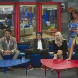 Aylén, Marco, Daniela, Aída y Alyson en la gala 12 de 'GH VIP 5'
