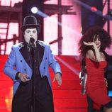 Miguel Machín es Javier Gurruchaga en la segunda gala de 'Tu cara no me suena todavía'