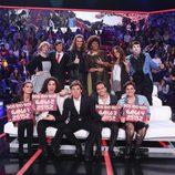 Los concursantes junto a Manel Fuentes en la segunda gala de 'Tu cara no me suena todavía'