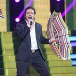 Fran Valenzuela es Marc Anthony en la segunda gala de 'Tu cara no me suena todavía'