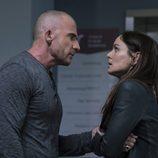 Lincoln (Dominic Purcell) y Sara (Sarah Wayne Callies) en la quinta temporada de 'Prison Break'