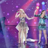 Edurne y Cristina en la final de la segunda edición de 'Got Talent España'