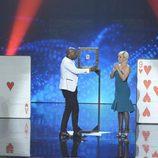 El mago Joel Armando y Eva Hache en la final de la segunda edición de 'Got Talent España'