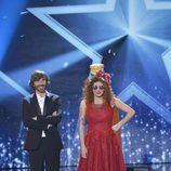 Mar Gabarre y Santi Millán en la final de la segunda edición de 'Got Talent España'