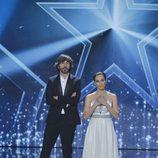 Solagne y Santi Millán en la final de la segunda edición de 'Got Talent España'