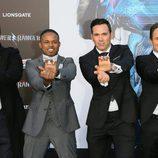 """Austin St. John, Walter Jones,  David Yost y  Jason David Frank en la premiere de """"Power Rangers"""" en Los Ángeles"""