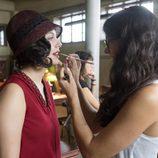 Blanca Suárez durante las grabaciones de 'Las chicas del cable'