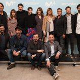 El reparto de 'La Zona' posa en la presentación de la serie de Movistar+