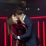 Marco y Aylén se besan en la despedida de ella en 'GH VIP 5'