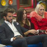 Marco Ferri, Aylén Milla y Daniela Blume en la gala 13 de 'GH VIP 5'