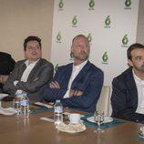 Ramón Campos, Mario López, Pedro García Aguado y Carlos Fernández Recio en la rueda de prensa de 'Cazadores de Trolls'