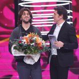 Raúl Ogalla junto a Manel Fuentes en la tercera gala de 'Tu cara no me suena todavía'