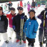 La familia Johnston de '¡Menuda Familia!' en la nieve