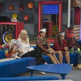 Daniela, Elettra, Irma y Alyson durante la gala 14 de 'GH VIP 5'