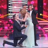 El novio de Itziar Camacho le pide matrimonio en la cuarta gala de 'Tu cara no me suena todavía'