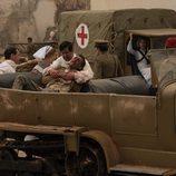 Hombre herido en 'Tiempos de Guerra'