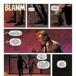 Página del cómic de 'El Ministerio del Tiempo' en la que Salvador Martí es asesinado