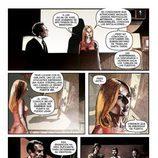 Una de las páginas del cómic de 'El Ministerio del Tiempo' analiza el asesinato de Salvador Martí