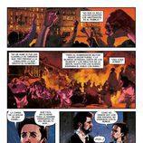 Amelia y Julián reviven la Noche de San Daniel en una de las páginas del cómic basado en 'El Ministerio del Tiempo'