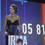 Irma Soriano ante los medios en la semifinal de 'GH VIP 5'