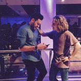 Manel Navarro junto a Imri Ziv en Tel Aviv