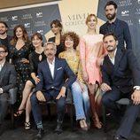 Actores en la rueda de prensa de 'Velvet Colección'