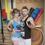 Adam Jezierski y Miriam Cabeza promocionando 'Gym Tony LC'