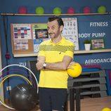 Carlos Chamarro en el gimnasio de 'Gym Tony LC'