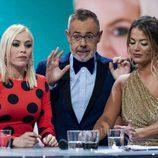 Jordi González junto a Alyson Rae Eckmann y Daniela Blume en la gala final de 'GH VIP 5'