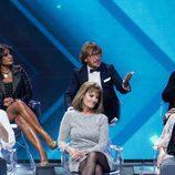 Aída Nízar, Tutto Durán y Alejandro Abad en la gala final de 'GH VIP 5'