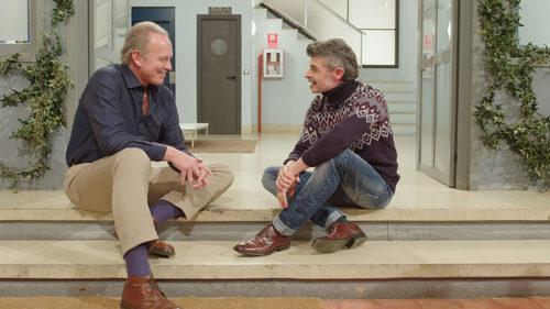 Bertín Osborne junto a Nacho Guerreros ('La que se avecina') en un programa de 'Mi casa es la tuya'