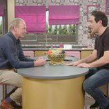 Bertín Osborne junto a Pablo Chiapella ('La que se avecina') en un programa de 'Mi casa es la tuya'